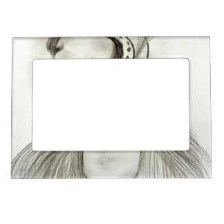 Flapper in Feathers Magnetic Photo Frame