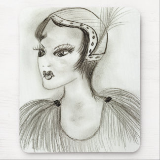 Flapper in Feathers Mouse Pad