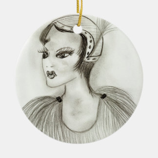 Flapper In Feathers Ornaments