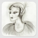 Flapper in Feathers Sticker