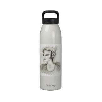 Flapper in Feathers Drinking Bottles