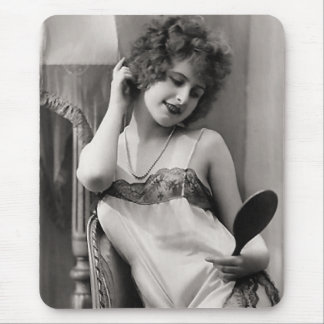 Flapper In Lingerie Mouse Pad