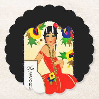 Flapper Keeping Score Paper Coaster