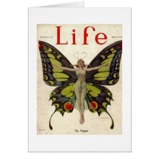 Flapper Lady Butterfly Card