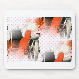 flapper polkadots mouse pad