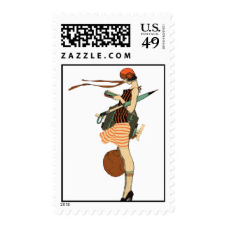 Flapper Postage Stamps
