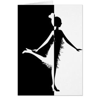 Flapper Silhouette Card