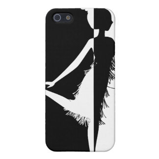 Flapper Silhouette Cover For iPhone SE/5/5s