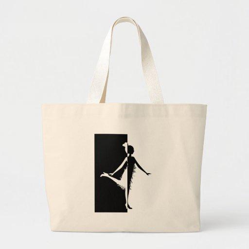 Flapper Silhouette Jumbo Tote Bag