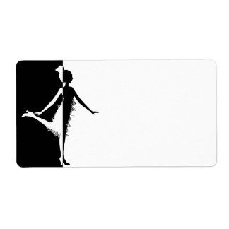 Flapper Silhouette Personalized Shipping Labels