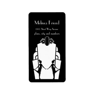 Flapper Silhouette Labels