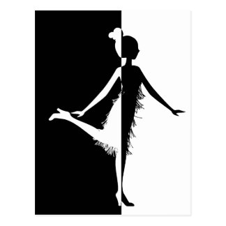 Flapper Silhouette Postcard