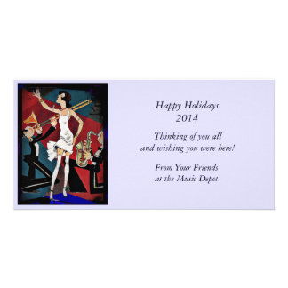 Flapper with a Jazz Band Photo Card