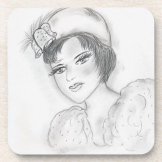 Flapper with Bells Drink Coaster