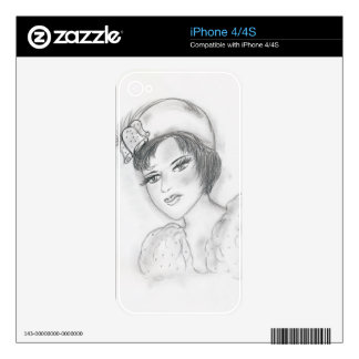 Flapper with Bells iPhone 4S Skin