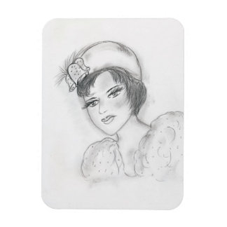 Flapper with Bells Magnet