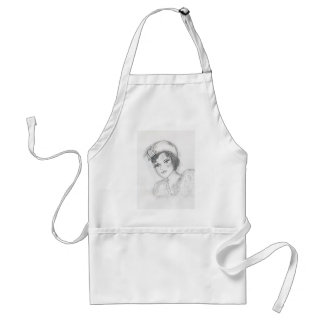 Flapper with Bells on Hat Adult Apron