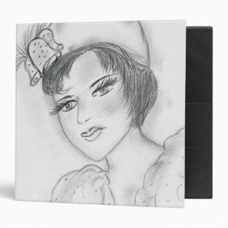 Flapper with Bells on Hat Binder