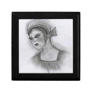 Flapper with Bow Gift Box