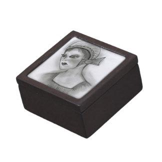 Flapper with Bow Keepsake Box