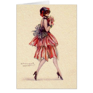 Flapper with Flowers, Card