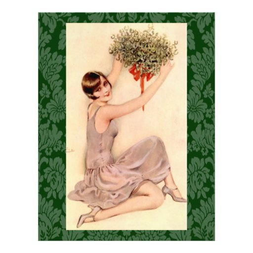Flapper with Mistletoe Personalized Flyer