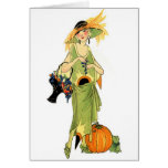 Flapper with pumpkin card