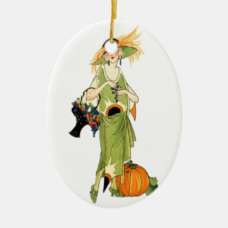 Flapper with pumpkin christmas tree ornaments