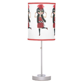Flappers with Big Eyes Dancing the Charleston Table Lamp