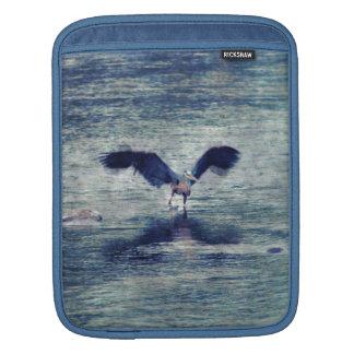 Flapping Great Blue Heron Wildlife Bird Art iPad Sleeve