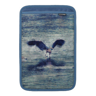Flapping Great Blue Heron Wildlife Bird Art MacBook Air Sleeve