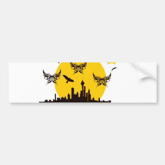 Flapping of moonlight bumper stickers