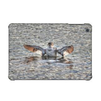 Flapping Red-necked Grebe & Lake Wildlife Photo iPad Mini Case