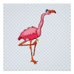 Flappy Flamingo Print
