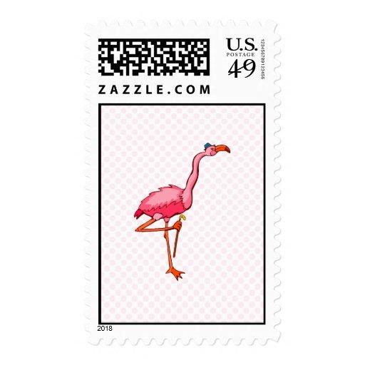 Flappy Flamingo Stamp