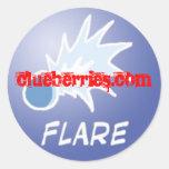 Flare Clueberry sticker