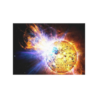 Flare from Star EV Lacertae Canvas Print