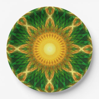 Flare Star Mandala Paper Plate
