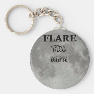 Flare Tha Eclipse Round Keychain