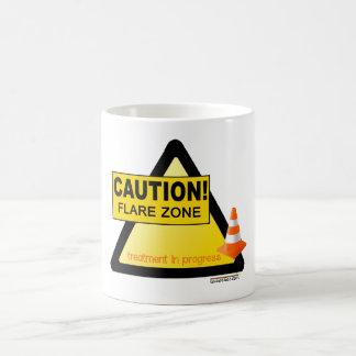 Flare zone orange cone mug