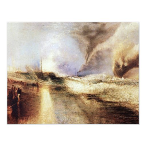 Flares In Heavy Seas By Turner Joseph Mallord Will 4.25x5.5 Paper Invitation Card