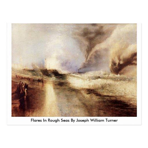 Flares In Rough Seas By Joseph William Turner Postcard