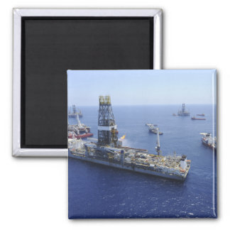Flaring operations conducted by the drillship magnet