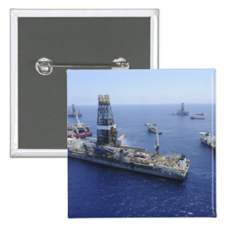 Flaring operations conducted by the drillship pinback button