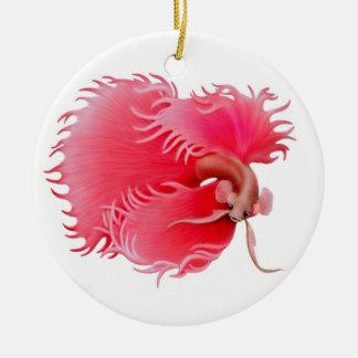 Flaring Red Betta Splendens Fish Ornament
