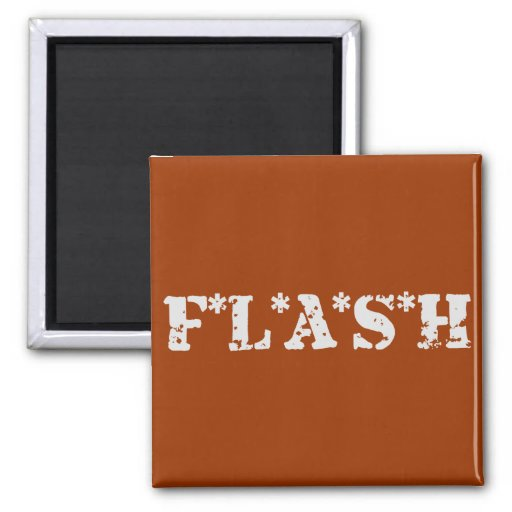 FLASH 2 INCH SQUARE MAGNET