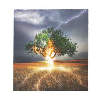 flash-845848 FANTASY LIGHTNING STRIKE TREE BACKGRO Notepad