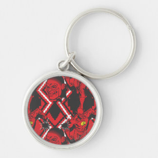 Flash - Absurd Collage Pattern Key Chains