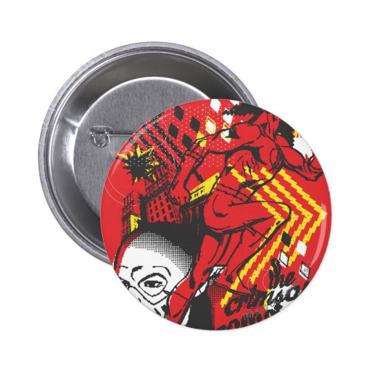 Flash - Absurd Collage Poster Button
