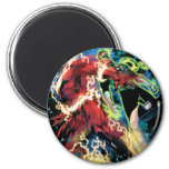 Flash and Green Lantern Panel 2 Inch Round Magnet